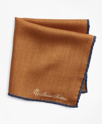 Brooks Brothers Herringbone Pocket Square