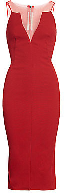 Rick Owens Women's Prong Sleeveless Mesh Sheath Dress