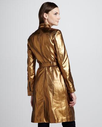 Burberry Metallic Leather Trenchcoat