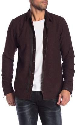 Scotch & Soda Herringbone Wool Blend Flannel Regular Fit Shirt
