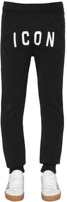 DSQUARED2 Icon Printed Cotton Jersey Sweatpants