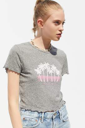 Truly Madly Deeply Beverly Hills Lettuce-Edge Baby Tee