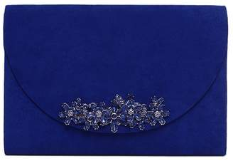 Phase Eight Blue Eleonor Jewel Trim Clutch Bag