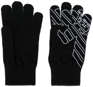 Emporio Armani Ea7 logo gloves