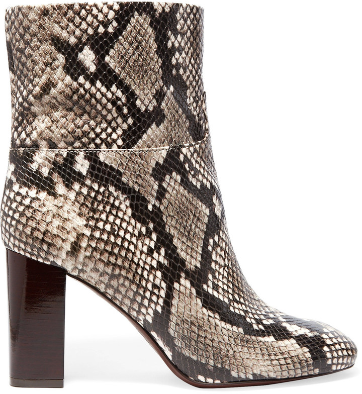 Tory BurchTory Burch Devon snake-effect leather ankle boots