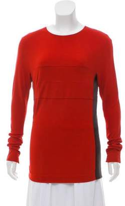 Narciso Rodriguez Scoop Neck Long Sleeve Top red Scoop Neck Long Sleeve Top