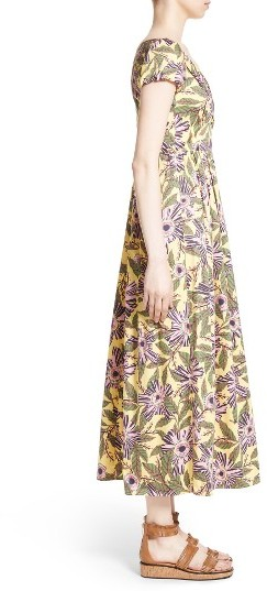 Women's Red Valentino Floral Print Stretch Poplin Dress 3