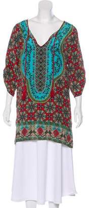 Tolani Silk Printed Top