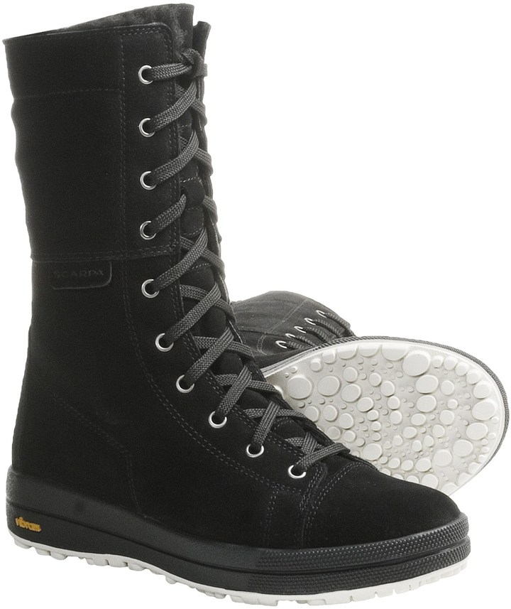 Scarpa Gardena Snow Boots - Suede, Shearling Lining (For Women)