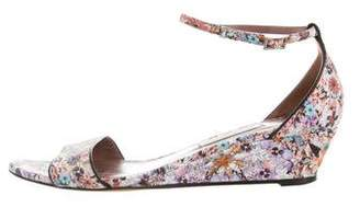 Tabitha Simmons Floral Wedge Sandals
