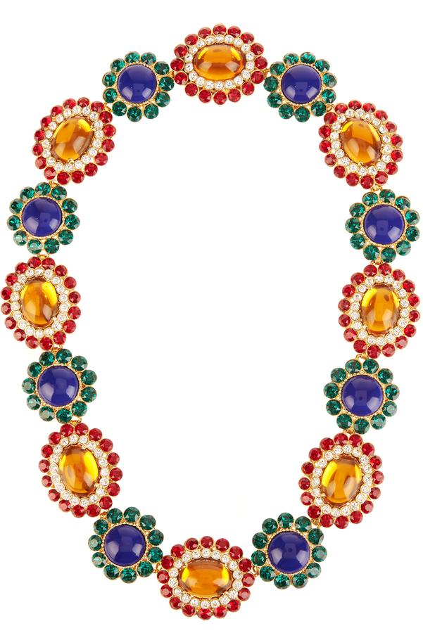 Miu MiuMIU MIU Flower crystal-embellished necklace