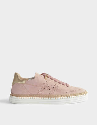Hogan Suede Sneakers in Pink Suede