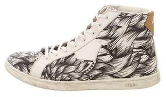 Aigle Canvas High-Top Sneakers