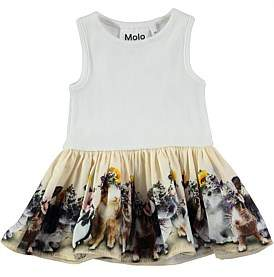 Molo United Bunnies Baby Dress (3 Months- 2 Years)