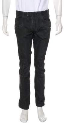 Balmain Washed Biker Skinny Jeans