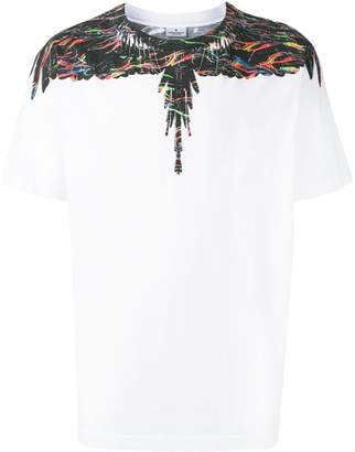 Marcelo Burlon County of Milan scratched wings print T-shirt
