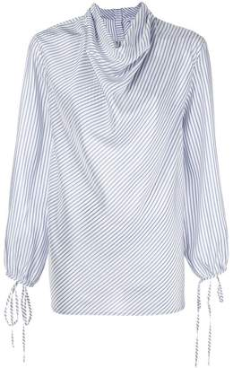 Loewe cowl neck striped blouse