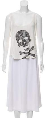 Gryphon Lace-Accented Sleeveless Top