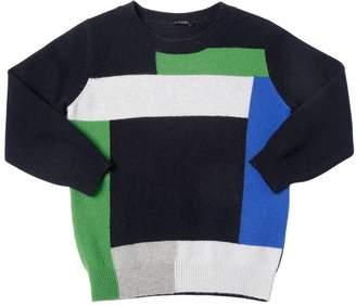Il Gufo Color Block Wool Knit Sweater