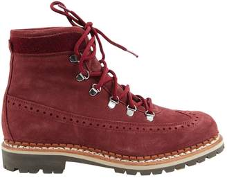 Tabitha Simmons Burgundy Suede Boots