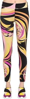 Emilio Pucci Printed Lycra High Waisted Leggings