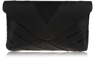 Nina Labreya Pleated V-Flap Clutch - Black $45 thestylecure.com