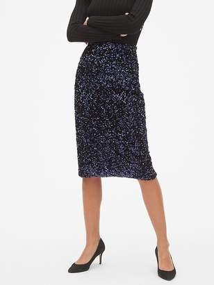 Gap Sequin Pencil Skirt
