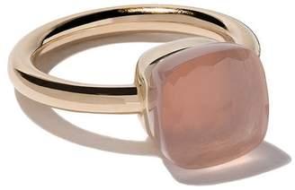 Pomellato 18kt rose & white gold Nudo rose quartz ring
