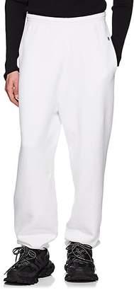 Balenciaga Men's Cotton Fleece Wide-Leg Sweatpants - White