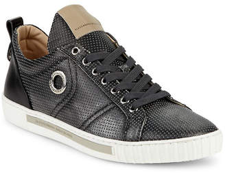 Alessandro Dell'Acqua Alessandro Dell''acqua Perforated Leather Lace-Up Sneaker