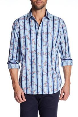 Robert Graham Aldgate Floral Classic Fit Dress Shirt $198 thestylecure.com