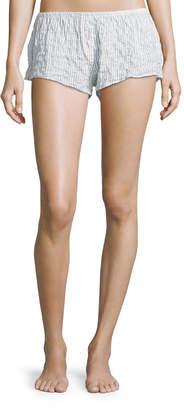 Neiman Marcus Xirena Shyla Pinstriped Lounge Shorts