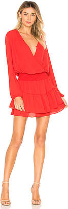 Krisa Smocked Surplice Dress
