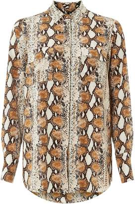Dorothy Perkins Womens Multi Coloured Snake Print Longline Shirt