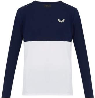 Castore - Fellows Long Sleeved Stretch Mesh T Shirt - Mens - Navy White