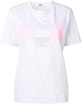 MSGM palm tree print T-shirt