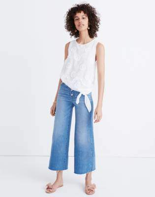 Madewell Embroidered Side-Tie Tank