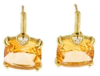 Judith Ripka 18K Citrine & Diamond Lola Earrings