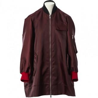 Calvin Klein Burgundy Polyester Jackets