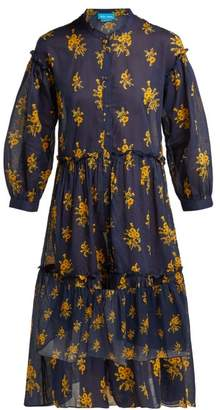 MiH Jeans Lyra Floral Print Cotton Dress - Womens - Navy Print