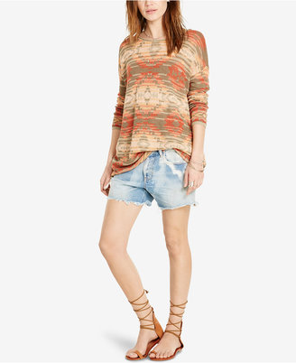 Denim & Supply Ralph Lauren Southwestern-Print Boat-Neck Sweater $98 thestylecure.com