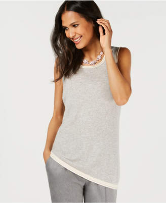 Charter Club Pure Cashmere Shell, Created for Macy's