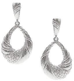Judith Ripka Sterling & Diamonique Swirl Pear D