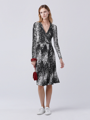 Lilyann Silk Jersey Wrap Dress $598 thestylecure.com