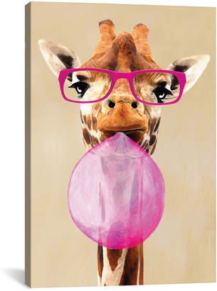 iCanvas icanvasart Clever Giraffe With Bubblegum By Coco De Paris