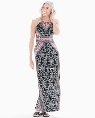 Maggy London Abstrat Geo Keyhole Maxi