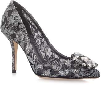 Dolce & Gabbana Embellished Lace Rosa Pumps 90