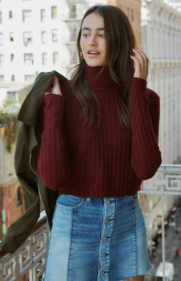 LA Hearts Turtleneck Cropped Sweater