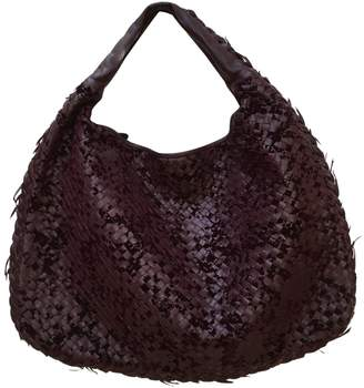 Bottega Veneta Veneta Burgundy Leather Handbag