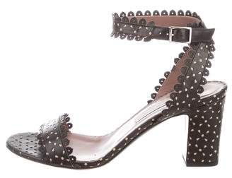 Tabitha Simmons Laser Cut Ankle Strap Sandals